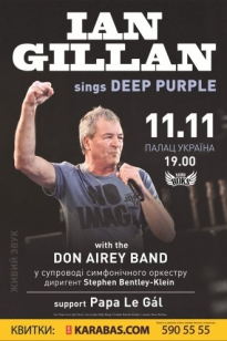 Ian Gillan sings Deep Purple with Don Airey Band. Киев, 11.11.2016