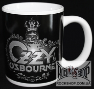 Ozzy Osbourne - Logo With Skull On Black (Official Merchandise) (Кружка)